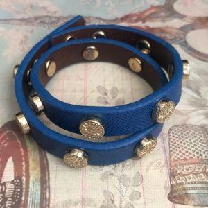 Tory Burch Blue letter bracelet